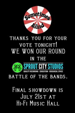 Sprout City Studios: Battle of the Bands Round 1